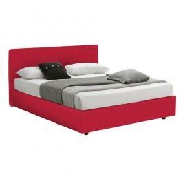 Červená  dvoulůžková postel s úložným prostorem 13Casa Ninfea, 160x190cm