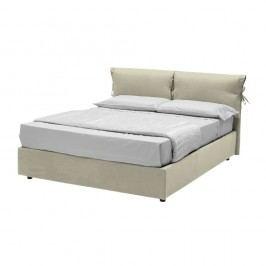 Béžová dvoulůžková postel s úložným prostorem 13Casa Iris, 160x190cm