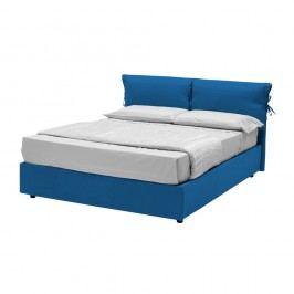 Modrá dvoulůžková postel s úložným prostorem 13Casa Iris, 160x190cm