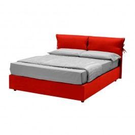 Červená dvoulůžková postel s úložným prostorem 13Casa Iris, 160x190cm