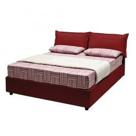 Červená dvoulůžková postel s úložným prostorem a potahem z koženky 13Casa Rose, 160x190cm Dvoulůžkové postele