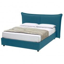 Modrá dvoulůžková postel s úložným prostorem 13Casa Dumbo, 160x190cm Dvoulůžkové postele