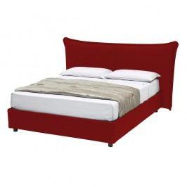 Červená dvoulůžková postel s úložným prostorem 13Casa Dumbo, 160x190cm