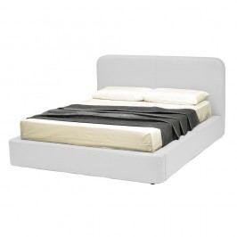 Bílá dvoulůžková postel s úložným prostorem a potahem z koženky 13Casa Pegasus, 160x190cm