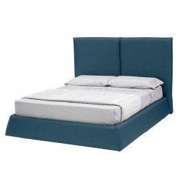 Modrá dvoulůžková postel s úložným prostorem 13Casa Ofelia, 160x190cm