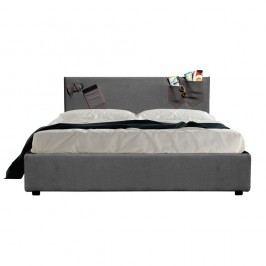 Šedá dvoulůžková postel s úložným prostorem 13Casa Task, 160x190cm