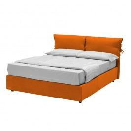 Oranžová dvoulůžková postel s úložným prostorem 13Casa Iris, 160x190cm