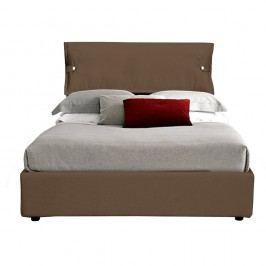 Hnědá jednolůžková postel s úložným prostorem 13Casa Feeling, 120x190cm