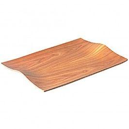 Protiskluzový dřevěný servírovací podnos Kinto Willow, 44x31 cm