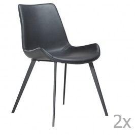 Sada 2 černých  jídelních židlí DAN– FORM Hype Faux