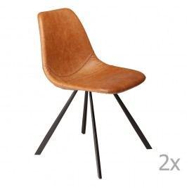 Sada 2 hnědých  jídelních židlí DAN– FORM Pitch