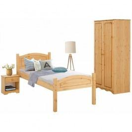 3dílný  jednolůžkový ložnicový set z borovicového dřeva Støraa Bangor