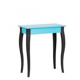 Tyrkysový konzolový stolek s černými nohami Ragaba Lilo, šířka 65cm