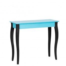 Tyrkysový konzolový stolek s černými nohami Ragaba Lilo, šířka 85cm