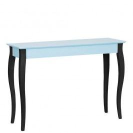 Světle tyrkysový konzolový stolek s černými nohami Ragaba Lilo, šířka 105cm