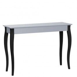 Tmavě šedý konzolový stolek s černými nohami Ragaba Lilo, šířka 105cm
