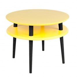 Žlutý konferenční stolek s černými nohami Ragaba UFO, Ø57cm