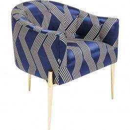 Modré křeslo se zlatými nohami Kare Design Kimono