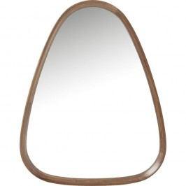 Zrcadlo s hnědým dřevěným rámem Kare Design Denver, 75x95cm