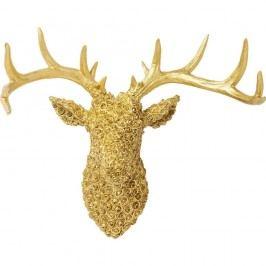Dekorace ve zlaté barvě Kare Design Deco Antler Deer Gold