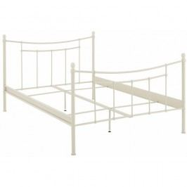 Bílá  dvoulůžková postel Støraa Victor, 140x200cm