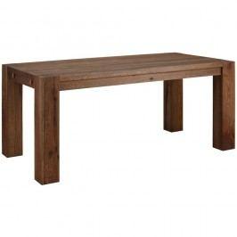 Tmavě hnědý jídelní stůl z masivního dubového dřeva Støraa Matrix, 90x160cm