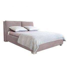 Světle růžová dvoulůžková postel Mazzini Beds Vicky, 140x200cm
