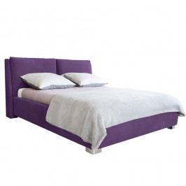 Fialová dvoulůžková postel Mazzini Beds Vicky, 160x200cm