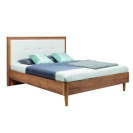 Bílá dvoulůžková postel Mazzini Beds Scandi, 140x200cm