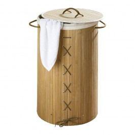 Bambusový koš na prádlo Wenko Bina, 55 l