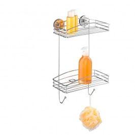 Samodržící dvoupatrová polička Wenko Vacuum-Loc, nosnost až33kg Vybavení koupelny