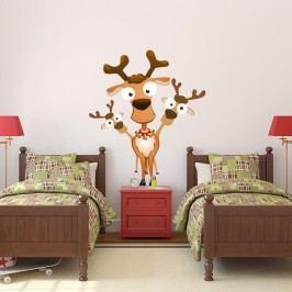 Vánoční samolepka Fanastick Noel Les Rennes Malicieux