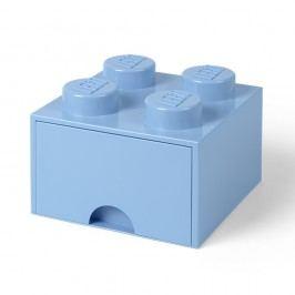 Světle modrý úložný box čtverec LEGO® Úložné krabice akošíky
