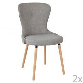 Sada 2 šedých jídelních židlí RGE Boogie