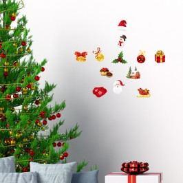 Sada 12 vánočních samolepek Ambiance Christmas decorations Obrazy, rámy atabule