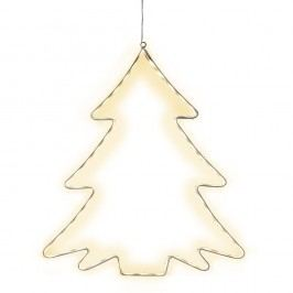 Závěsná svítící LED dekorace Best Season Lumiwall Tree
