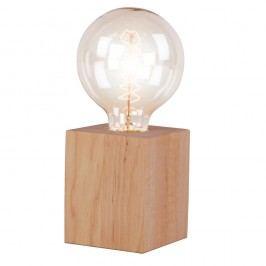 Stolní lampa z olšového dřeva Nørdifra Blocks, výška10cm