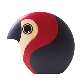 Dekorace ve tvaru ptáčka s červeným detailem Architectmade Discus