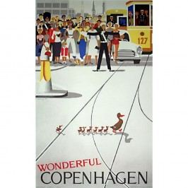 Plakát Architectmade Wonderful Copenhagen,50x70cm Obrazy, rámy atabule