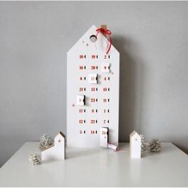 Adventní kalendář s červenými detaily Unlimited Design for kids Vánoční dekorace