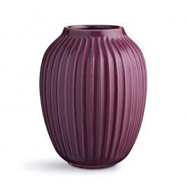 Fialová kameninová váza Kähler Design Hammershoi,výška 25 cm