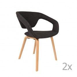Sada 2 černých židlí Zuiver Flexback