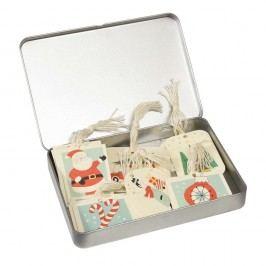 Sada 36 cedulek na dárky v plechové krabičce Rex London Cedule