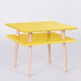 Žlutý konferenční stolek Ragaba Square, 55x55cm