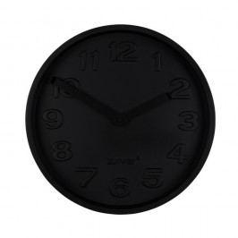 Černé betonové nástěnné hodiny s černými ručičkami Zuiver Concrete