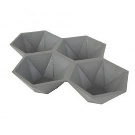Šedý podnos Zuiver Hexagon