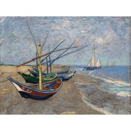 Reprodukce obrazu Vincenta van Gogha - Fishing Boats on the Beach at Les Saintes-Maries-de la Mer, 40 x 30 cm Obrazy, rámy a tabule