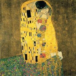 Reprodukce obrazu Gustav Klimt The Kiss, 50x50cm