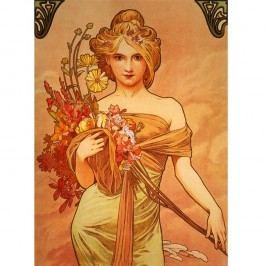 Reprodukce obrazu Bouquet od Alfonse Muchy, 40x55 cm