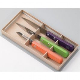 Sada 2 nožů a škrabky z nerezové oceli na loupání v dárkovém balení Jean Dubost Vegetable